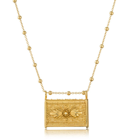 Poison Box, Necklace, Gold