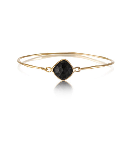 Pulki Bangle, Black Onyx, Gold