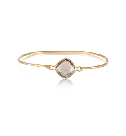 Pulki Bangle, Smokey Quartz, Gold