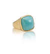 Sabine Ring, Amazonite, Gold