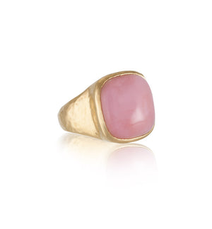 Sabine Ring, Pink Opal, Gold