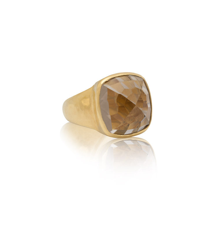 Sabine Ring, Smokey Quartz, Gold