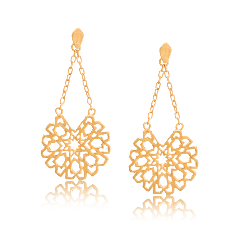 Samara Chain Stud, Gold