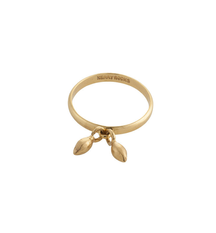 Seed Charm Ring, Gold, Kerry, Rocks, Jewellery