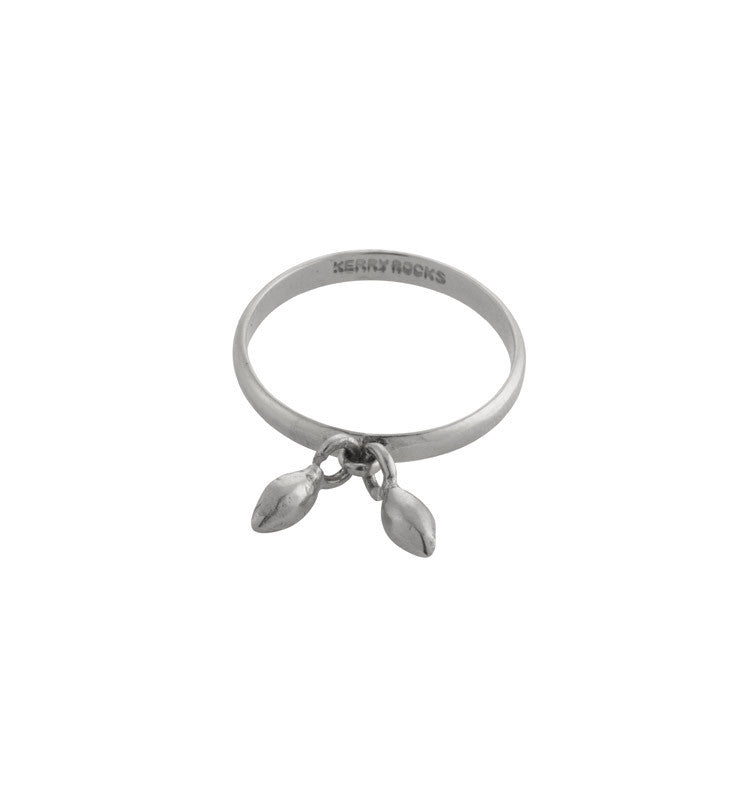 Seed Charm Ring, Silver, Kerry, Rocks, Jewellery