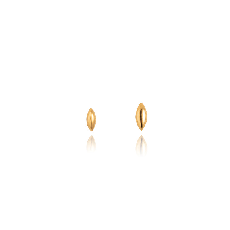 Seed Stud, 9kt Yellow Gold