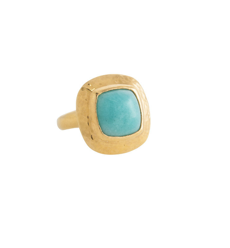 Sienna, Ring, Amazonite, Gold, Kerry, Rocks, Jewellery