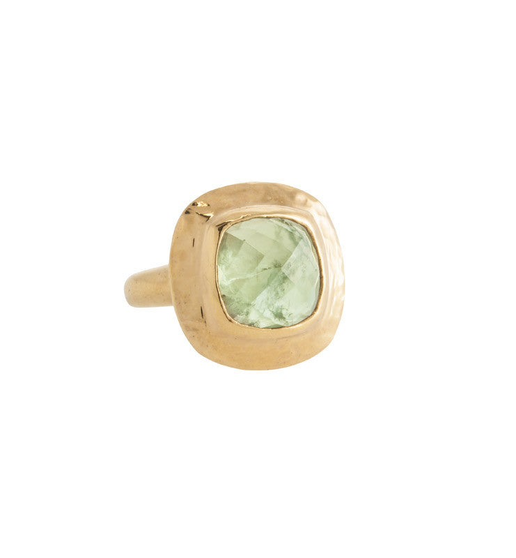 Sienna Ring, Prehnite, Gold, Kerry, Rocks, Jewellery