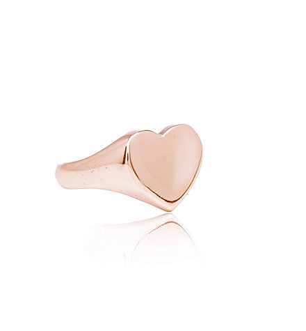 Signet, Heart, Ring, 9kt, Rose, Gold, Kerry, Rocks