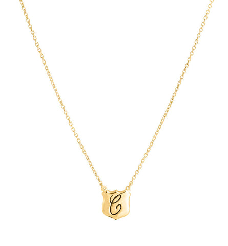 Signet, Personalized, Necklace, C , Gold, Kerry, Rocks, Jewellery, Jewelry