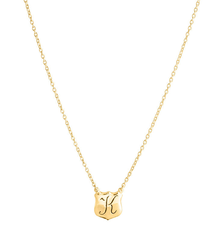 Signet, Personalized, Necklace, K, Gold, Kerry, Rocks, Jewellery