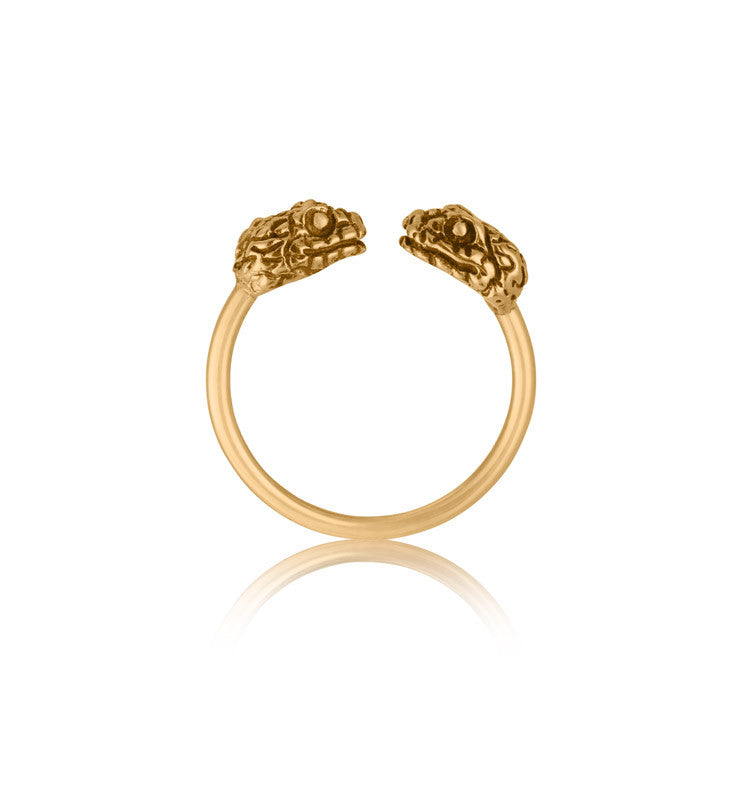 Snake Cuff Ring, Gold
