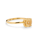 Solitaire Ring, Citrine, 9kt Yellow Gold