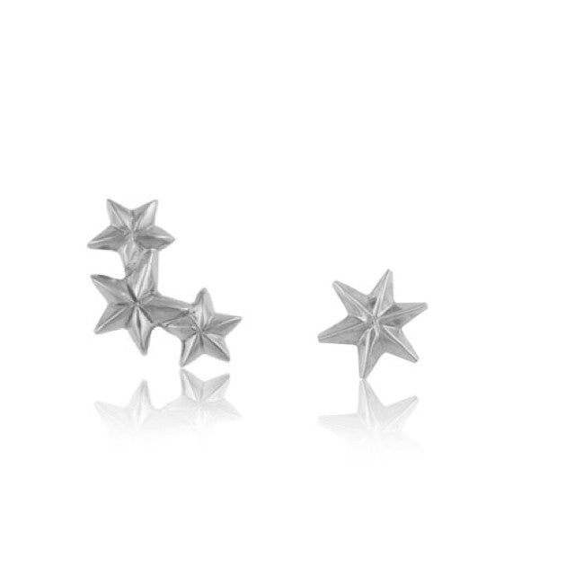 Starry, Stud, Silver, Kerry, Rocks, Jewellery