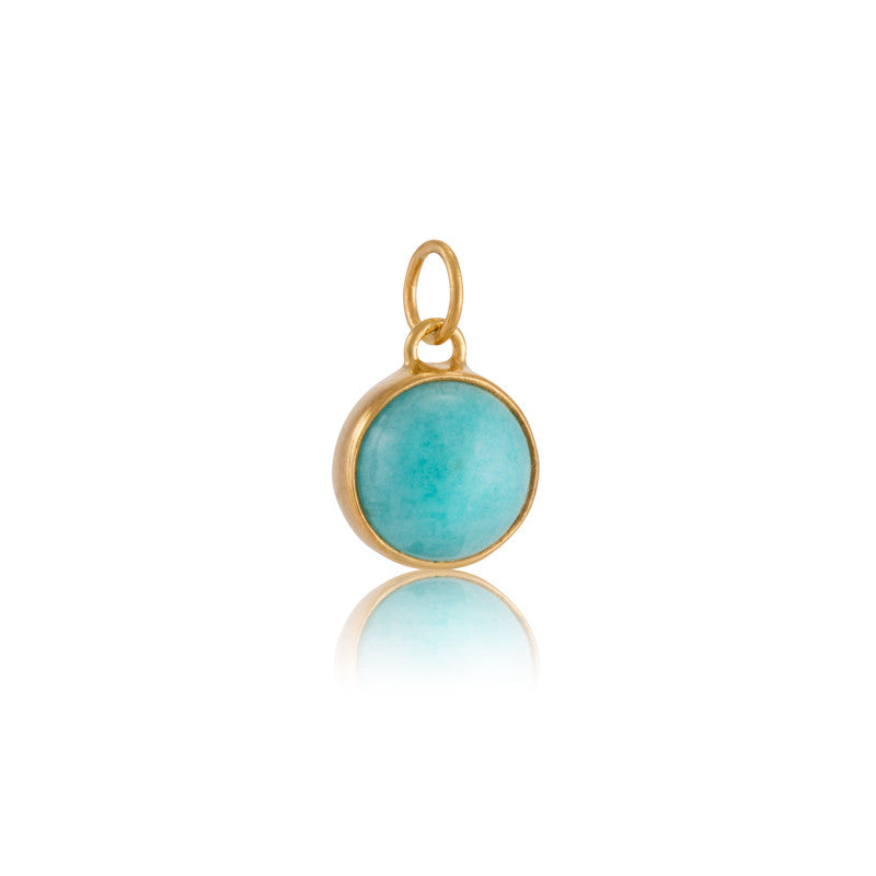 Stella Charm, Amazonite, Gold