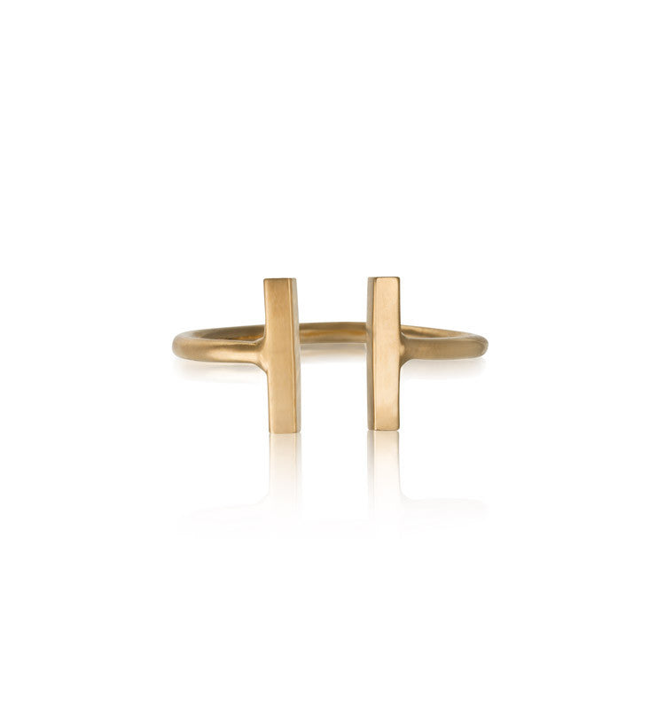 Stick Cuff Ring, Gold
