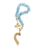 aquamarine, tassel, gold, bracelet, kerry, rocks, jewellery