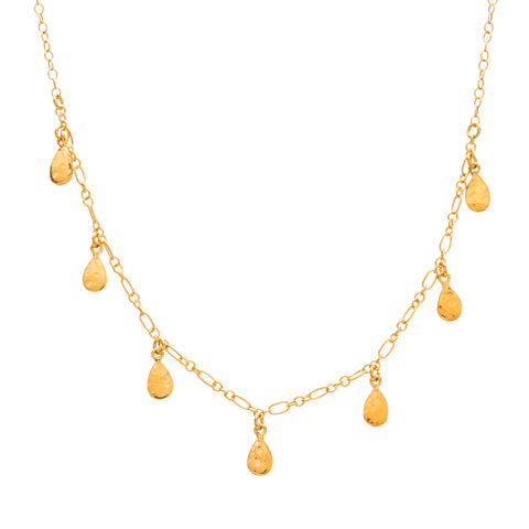 Teardrop Necklace, Gold