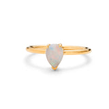 Pear Opal Ring , 9kt Yellow Gold