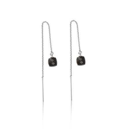 Cube Threads, Black Onyx, Silver