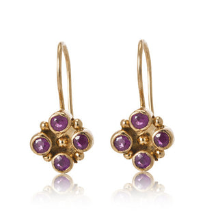 Tia, Earring, Ruby, Gold, kerry, rocks, jewellery, jewelry