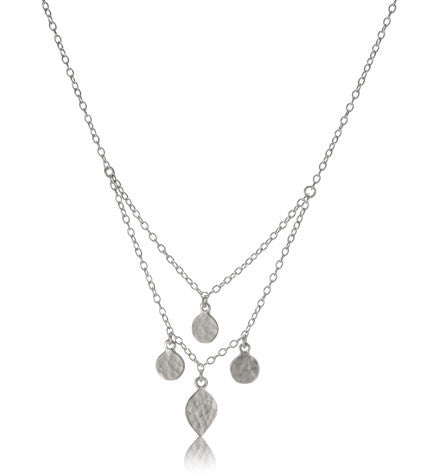 Tibi Necklace, Silver