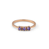 Trinity Ring, Tanzanite, 9kt Rose Gold