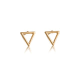 Triangle Stud, Gold