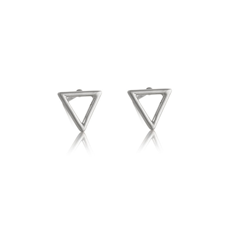 Triangle Stud, Silver