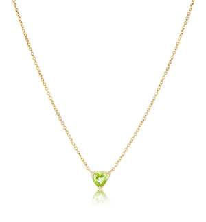Trillion Necklace, Peridot, Gold