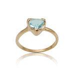 Trillion Ring, Blue Topaz, Gold