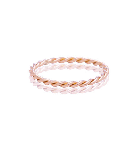 Rose, Gold, 9kt, Twistie, Band, Kerry, Rocks, Jewellery