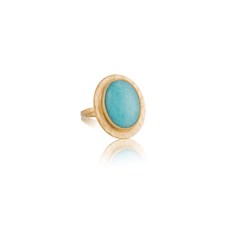Venice Ring, Amazonite, Gold