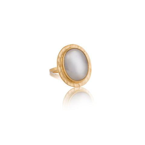 Venice Ring, Moonstone, Gold