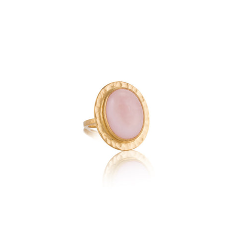Venice Ring, Pink Opal, Gold