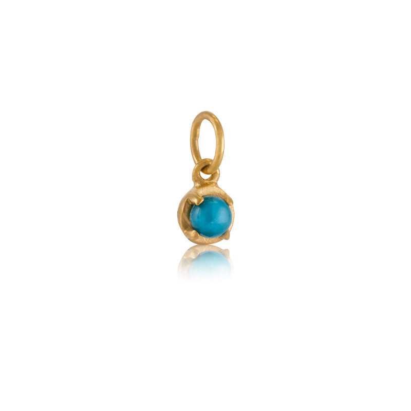 Winkie Charm, Turquoise, Gold