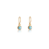 Winkie Earring, Turquoise, 9kt Yellow Gold
