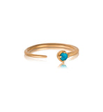 Winkie Ring, Turquoise, Gold