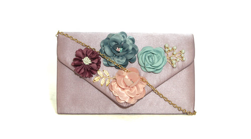 Floral Embellished Clutch