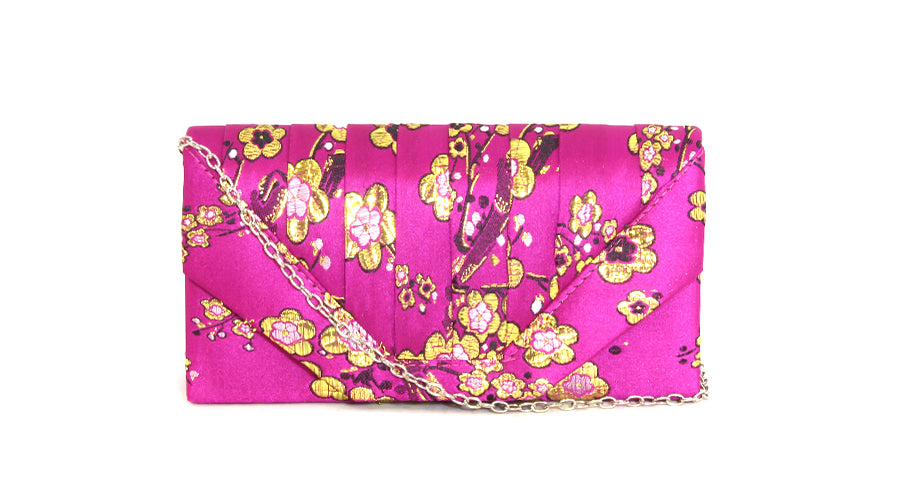 Faux Satin Clutch