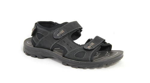 Double Strap Leather Sandal