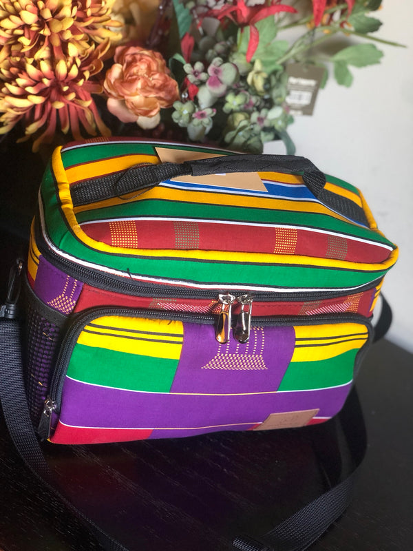 Purple Kente Lunch Bag