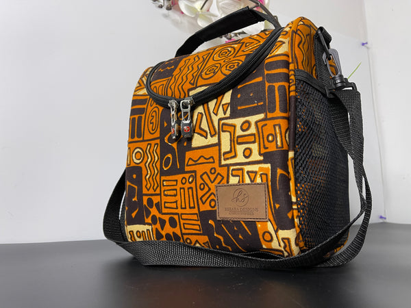 Tribe Brown Print Lunch Bag