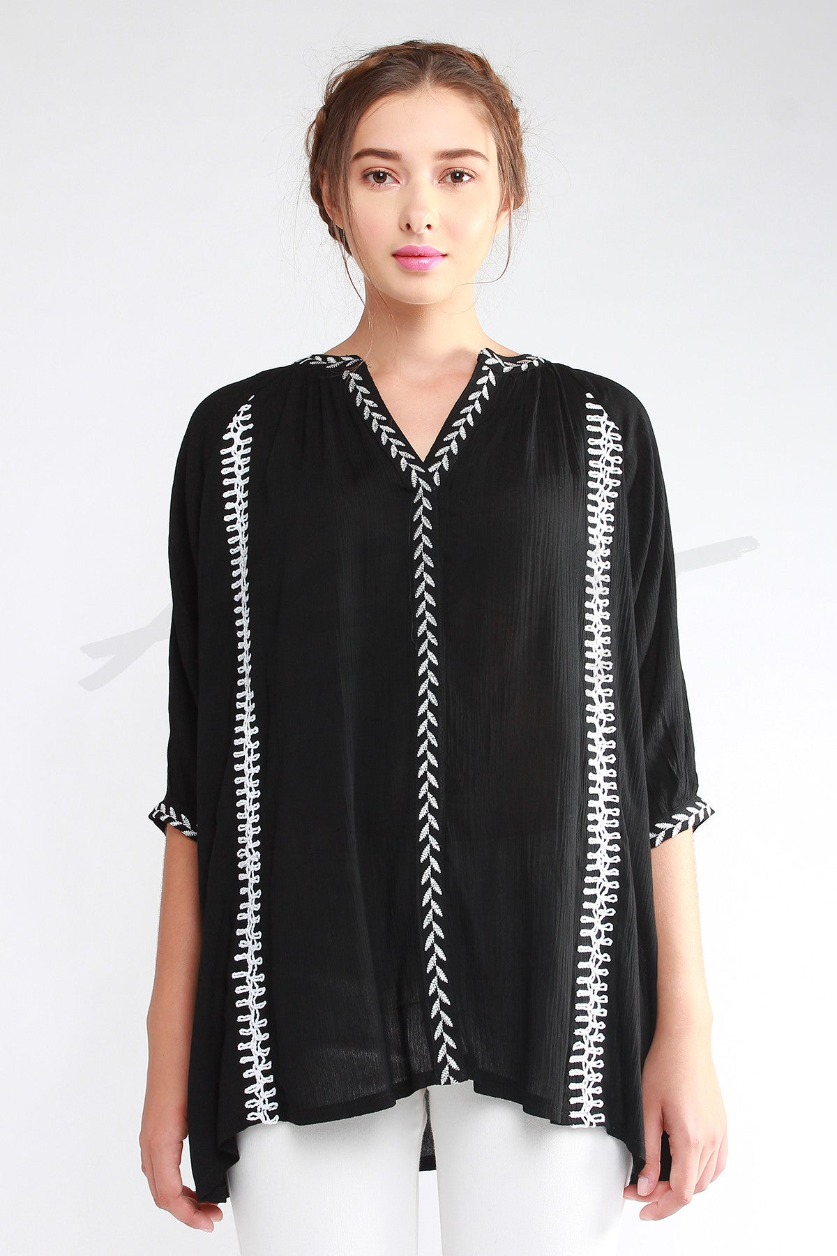Fern Embroidered Tunic