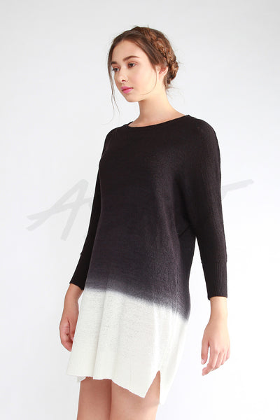 Gradient Knit Dress - Black