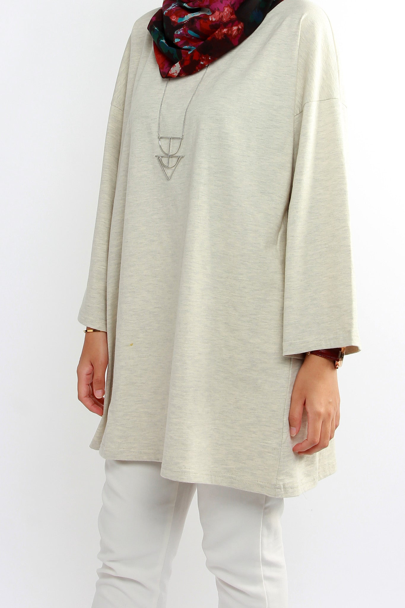 ASMT Oversized T Dress – Heather Grey