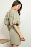 Calorine Dress Olive Green
