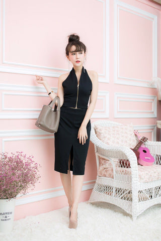 Bassie Dress Set - Black