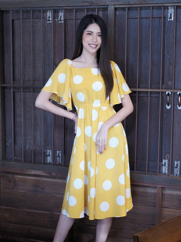 Sista Box Wanessa Polka Dot Maxi Dress