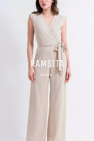 Araya Jumpsuit Navy Cream